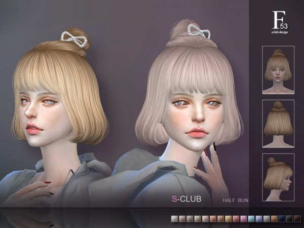 The Sims Resource: Hair N53 by S Club for Sims 4