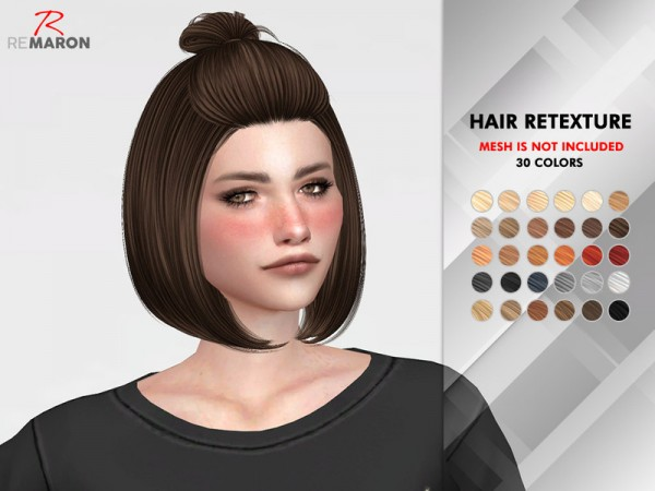 The Sims Resource: Mars Hair Retextured by remaron for Sims 4