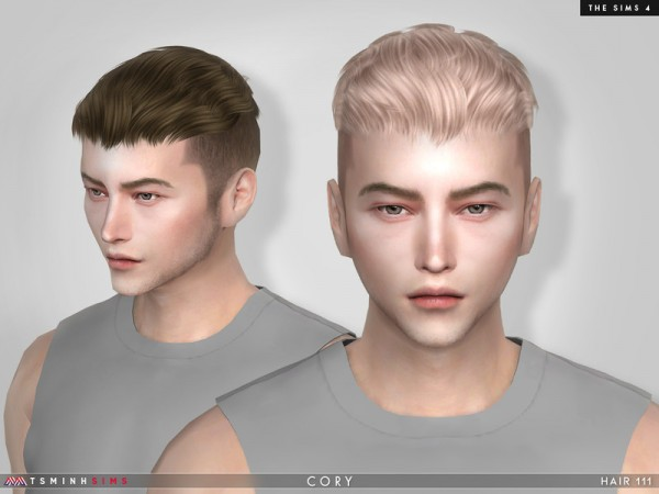 The Sims Resource: Cory Hair 111 by TsminhSims for Sims 4