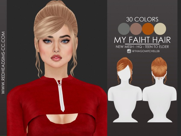 Coupure Electrique: My Faith Hair for Sims 4