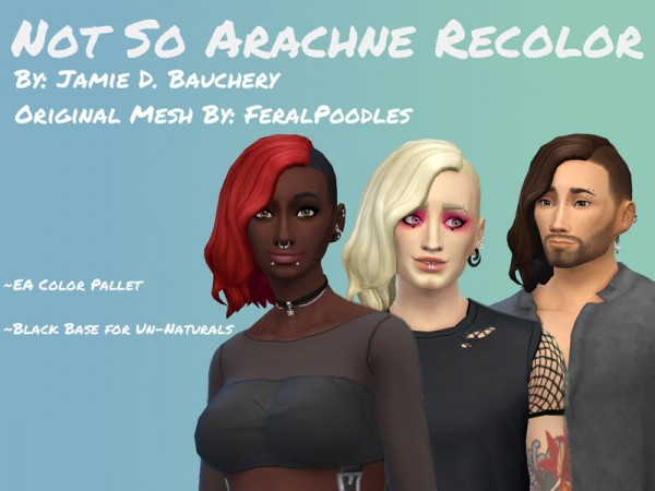 The Sims Resource: Not So Arachne Recolored by JamieDBauchery for Sims 4