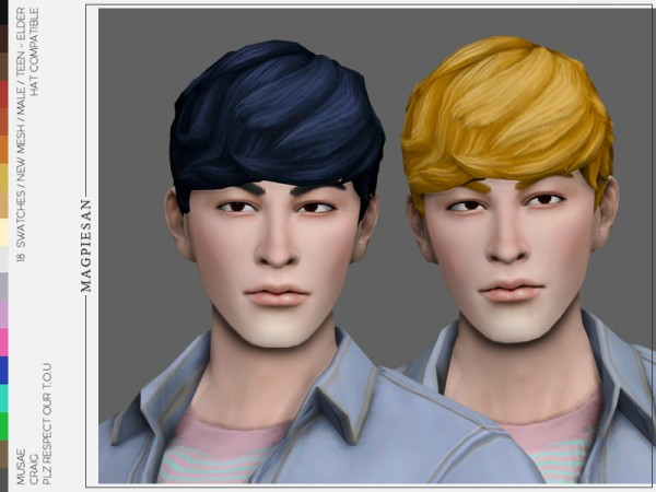 The Sims Resource: Craig Hair by magpiesan for Sims 4