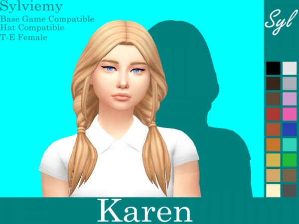 The Sims Resource: Karen Hair Retextured by Sylviemy for Sims 4