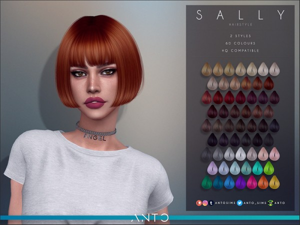 The Sims Resource: Sally Hair by Anto for Sims 4