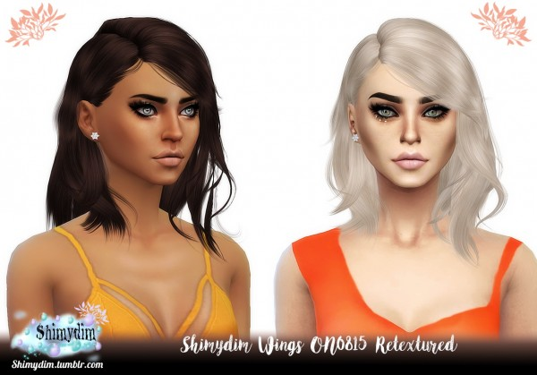 Shimydim: Wings ON0815 Hair Retextured for Sims 4