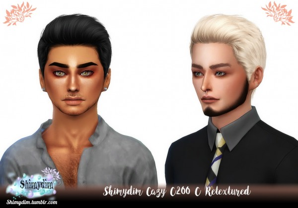 Shimydim: Cazy C200 C and D Hair Retextured for Sims 4