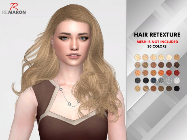 The Sims Resource: Wonderland Hair Retextured by remaron for Sims 4