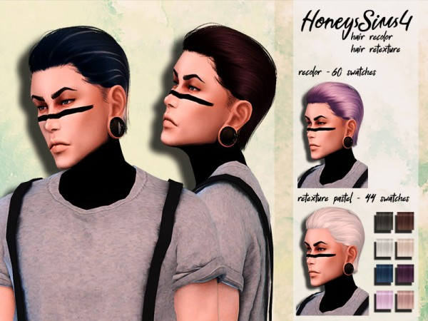 The Sims Resource: Anto`s Vladimir Hair retextured by HoneysSims4 for Sims 4