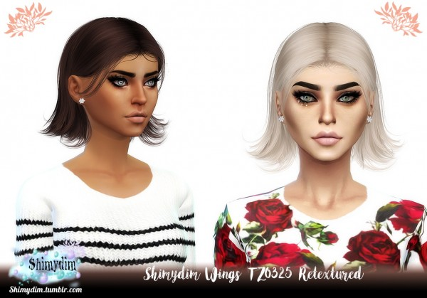 Shimydim: Wings TZ0325 Hair Retextured for Sims 4