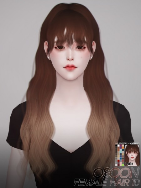 Osoon: Hair 10 for Sims 4