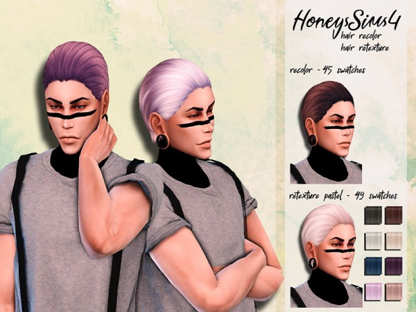 The Sims Resource: NightCrawler`s NightLife hair retextured by HoneysSims4 for Sims 4