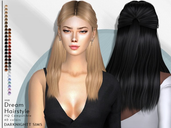 The Sims Resource: Dream Hair by DarkNighTt for Sims 4