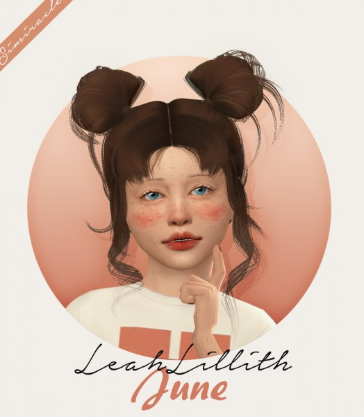 Simiracle: LeahLillith`s June Hair Retextured   Kids Version for Sims 4