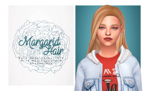 Isjao: Margarid Hair for Sims 4