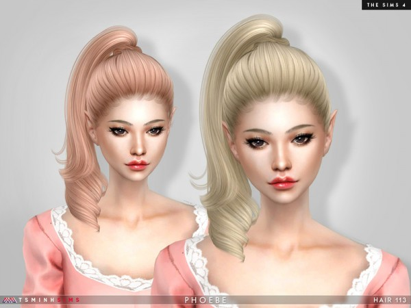 The Sims Resource: Phoebe Hair 113 by TsminhSims for Sims 4