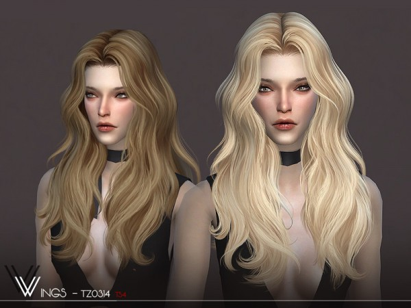 The Sims Resource: WINGS TZ0314 hair for Sims 4
