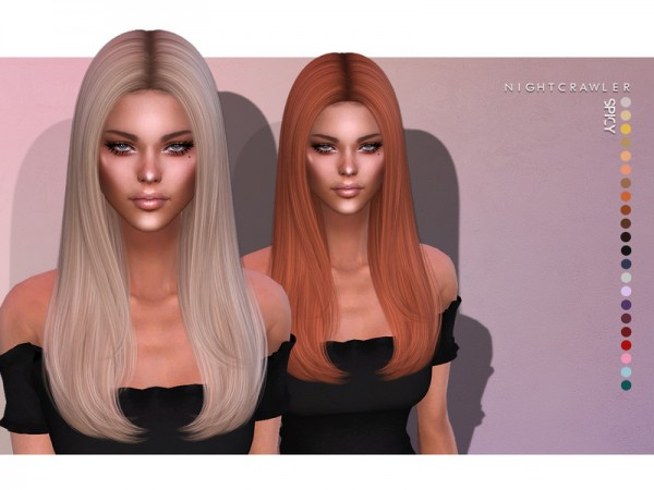 The Sims Resource: Spicy Hair by Nightcrawler for Sims 4