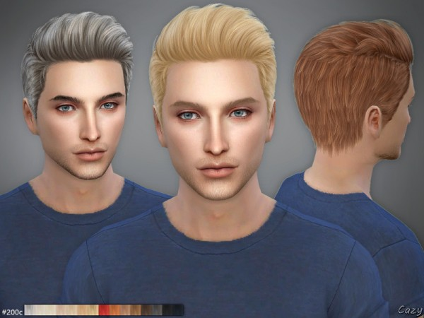 The Sims Resource: 200 CandD Male Hairs by Cazy for Sims 4