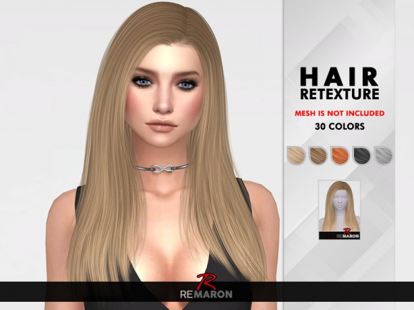 The Sims Resource: Elia Hair Retextured by remaron for Sims 4