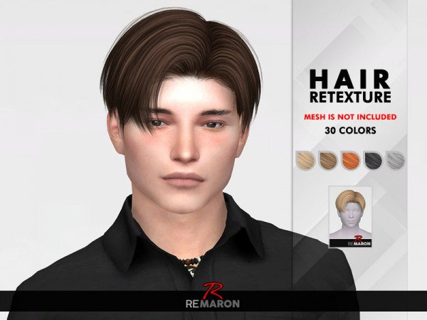 The Sims Resource: Leon Hair Retextured by Remaron for Sims 4
