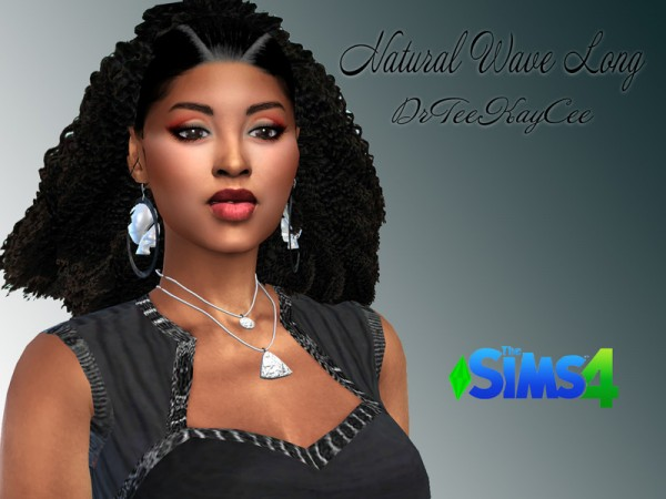 The Sims Resource: Natural Wavy Long Hair by drteekaycee for Sims 4