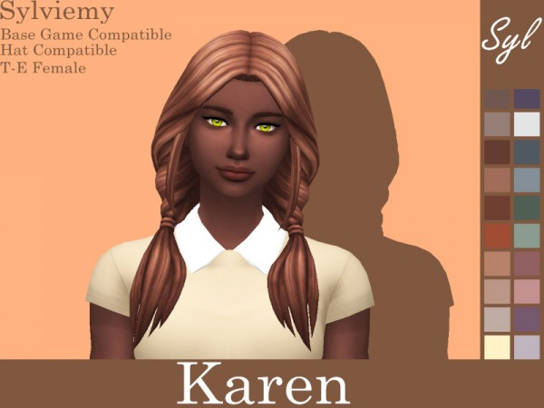 The Sims Resource: Karen Hair Recolored by Sylviemy for Sims 4