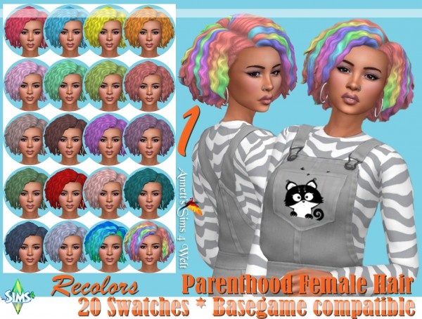 Annett`s Sims 4 Welt: Parenthood Female Hair   Recolors for Sims 4