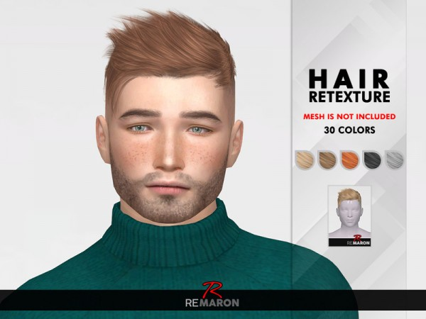 The Sims Resource: TZ0224 Hair Retextured by Remaron for Sims 4