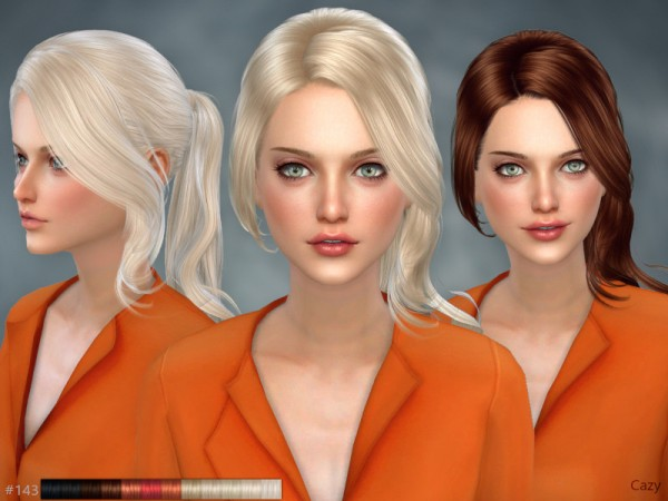 The Sims Resource: Unofficial Hair by Cazy for Sims 4