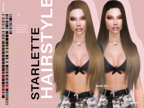The Sims Resource: Starlette Hair by LeahLillith for Sims 4
