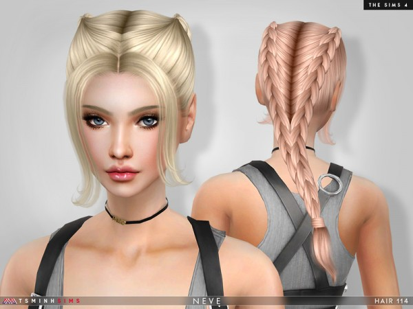 The Sims Resource: Neve Hair 114 by TsminhSims for Sims 4
