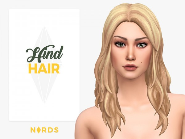 The Sims Resource: Hind Hair by Nords for Sims 4