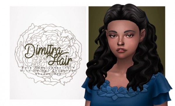 Isjao: Dimitra Hair for Sims 4
