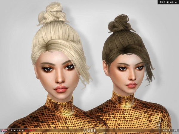 The Sims Resource: Amee Hair 115 by TsminhSims for Sims 4