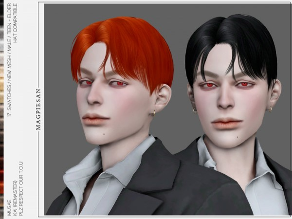 The Sims Resource: Kai Hair by magpiesan for Sims 4