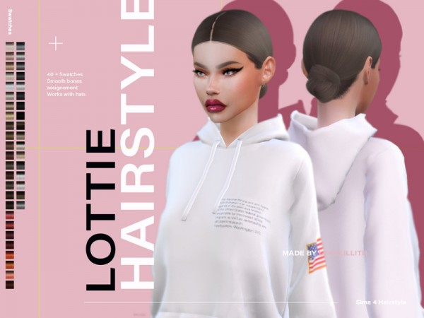 The Sims Resource: Lottie Hair by LeahLillith for Sims 4
