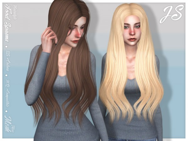 The Sims Resource: Food Spasms Hair by JavaSims for Sims 4