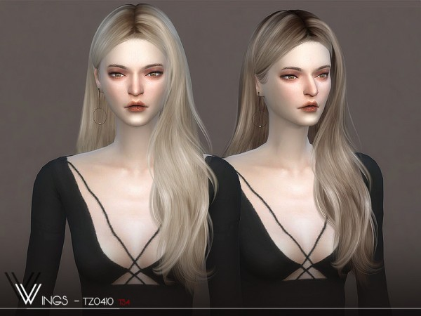 The Sims Resource: WINGS TZ0410 hair for Sims 4