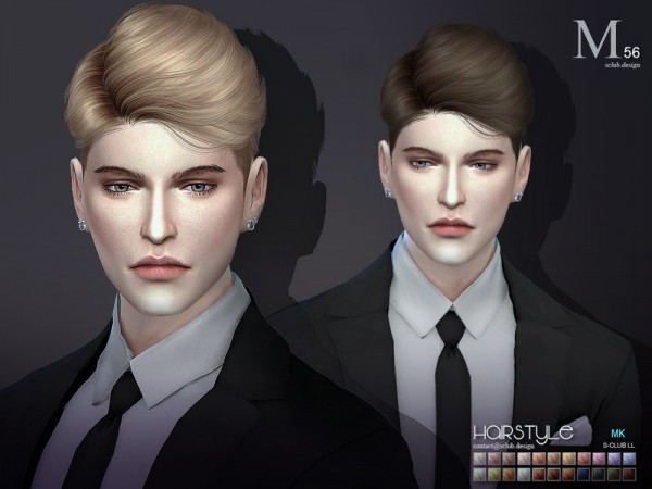 The Sims Resource: Hair Leon n56 by S Club for Sims 4