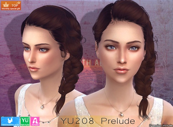 NewSea: YU208 Prelude Hair for Sims 4
