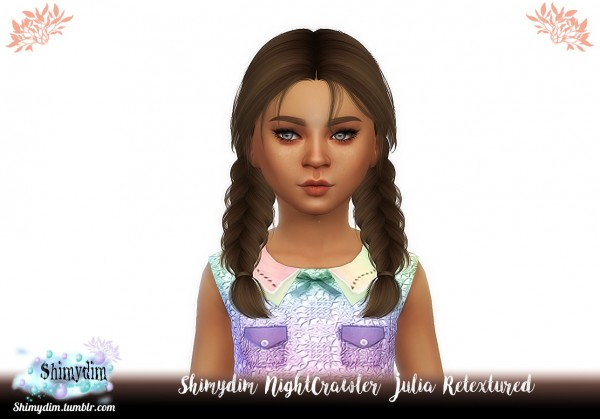 Shimydim: NightCrawler`s Julia Hair Retextured for Sims 4