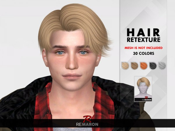The Sims Resource: SeHun Hair Retextured by remaron for Sims 4