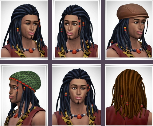 Birksches sims blog: Daran Dreads for Sims 4