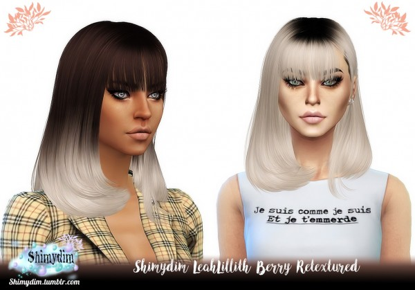 Shimydim: LeahLillith`s Berry Hair Retextured for Sims 4