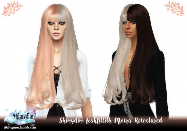 Shimydim: LeahLillith`s Moira Hair Retextured for Sims 4