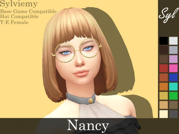 The Sims Resource: Nancy Hair Set by Nancy Hair Set for Sims 4