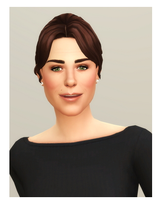 The Sims Resource: Kate Hair III for Sims 4