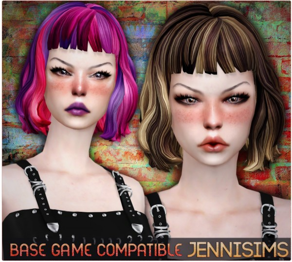 Jenni Sims: Hair Retexture   10 colors for Sims 4