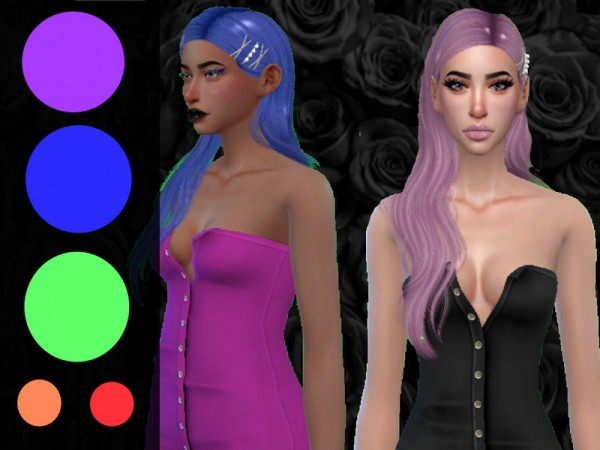 The Sims Resource: NightCrawler`s Alluring Hair Retextured for Sims 4