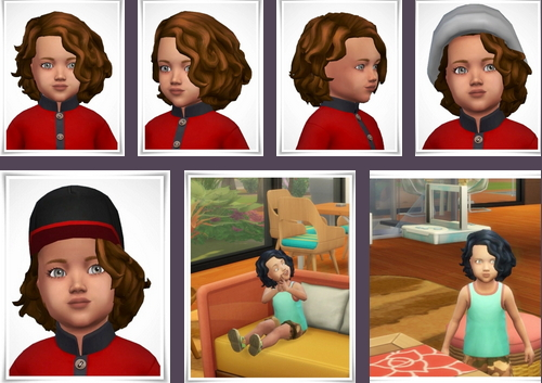 Birksches sims blog: Nicky toddler hair for Sims 4